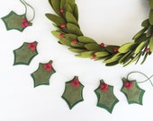 Holly Berry Garland, Holly Berry, Christmas Garland, Felt Garland, Holly Berries, Garland, Holly Garland, Holly Berry Banner, Banner, Felt
