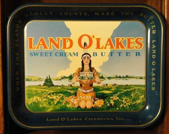 Vintage Land O Lakes Serving Tray