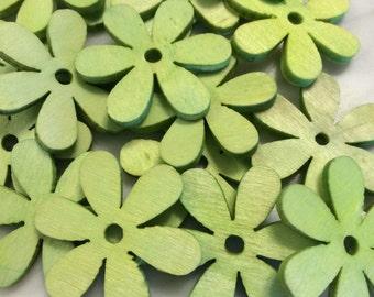 Wooden Flower Embellishment
