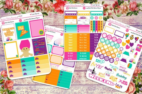 90s Troll Dolls Daily Planner Stickers