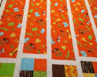 Handmade quilt, baby quilt, child's quilt, toddler quilt, homemade quilt, animal quilt