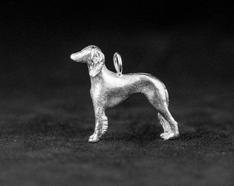 Sterling Silver Saluki Charm
