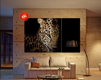 leopard  canvas wall art leopard wall decoration leopard canvas wall art art leopard large canvas wall art  wall decor
