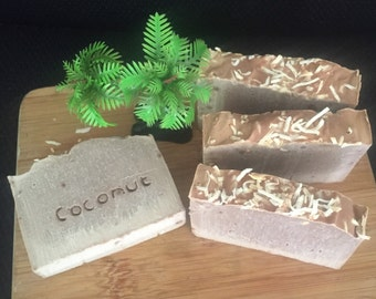 Creamy Coconut Soap. Handmade, Natural & Organic .. Made with Coconut Milk that will keep your skin hydrated.
