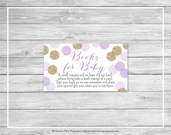 baby shower books for baby purple and gold glitter baby shower