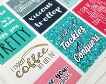 Gilmore Girls quote boxes   Stickers forErin Condren planner (#QB13)