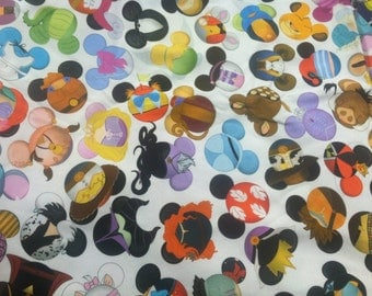 Ispy Character Find Search Mickey Heads Limited Edition Custom printed fabric Cotton Lycra 95/5