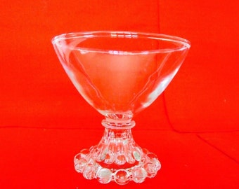 7 Boopie Berwick Footed Sherbet / Custard / Dessert Cups by Anchor Hocking Vintage Glass