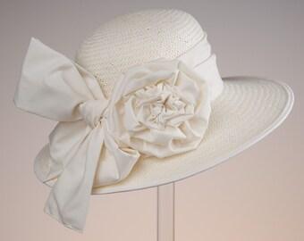 Hat, Creme, Weddinghat