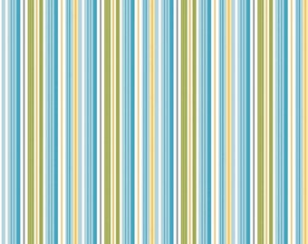 Riley Blake, Dandy Stripe Blue fabric