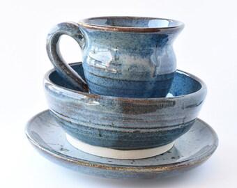 Blue breakfast set