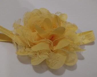 Yellow Flower Infant Headband