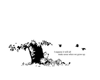 "Calvin & Hobbes ""When we grow up..."" Decal"