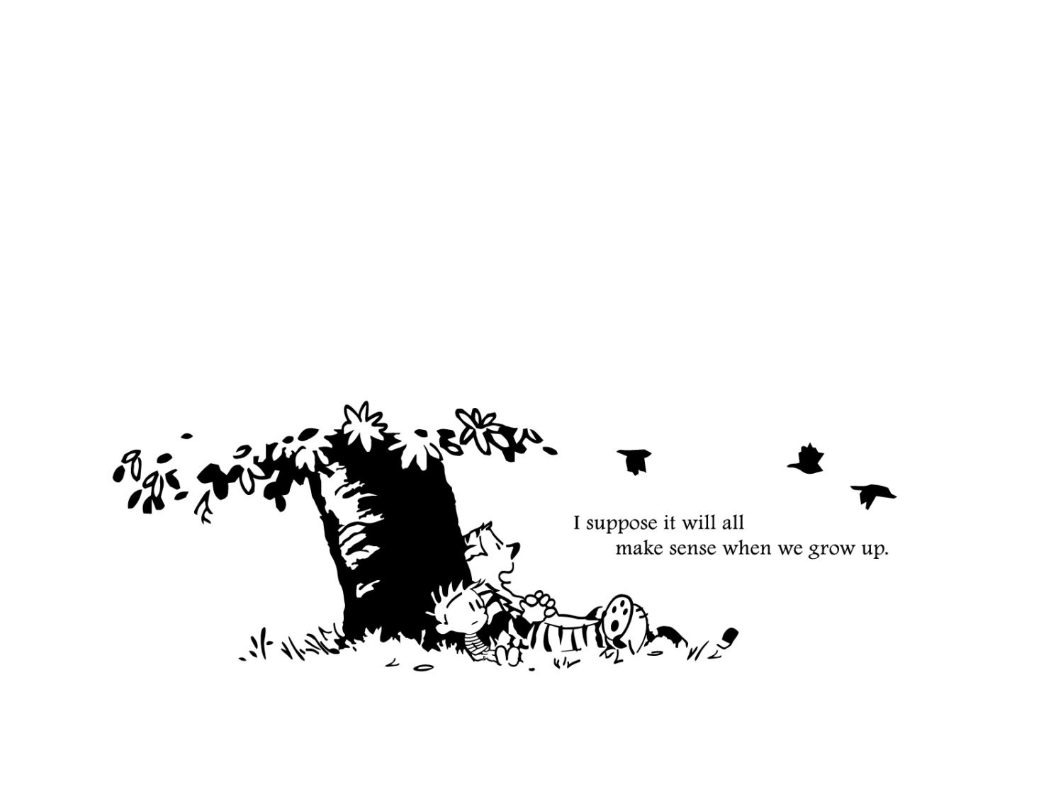 211d27cde ... I Suppose It Will All Make Sense When We Grow Up I: Calvin & Hobbes