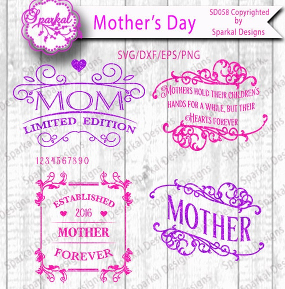 Mother\'s Day Sayings Cutting files Quotes in SVG-DXF-EPS-Png ...