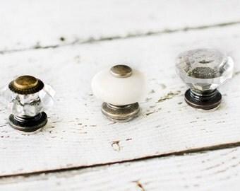 Set of 3 curio mini knob magnets, knob magnet, refrigerator magnets, magnets, vintage magnets