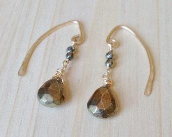 Penthesilea Pyrite Earrings