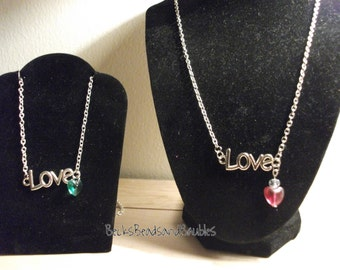Love - Simply put Necklace