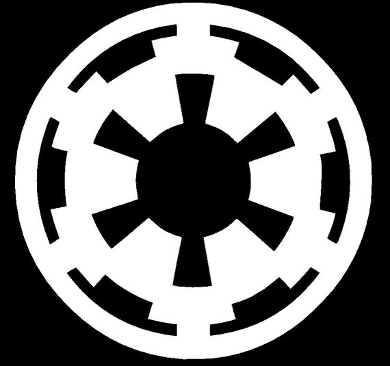 star wars galactic empire sticker vinyl decal star wars car. Black Bedroom Furniture Sets. Home Design Ideas