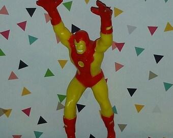 Vintage 1990s Old Store Stock Marvel Comics Iron Man PVC Figure