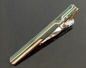 Circuit Board Tie Clip -  green