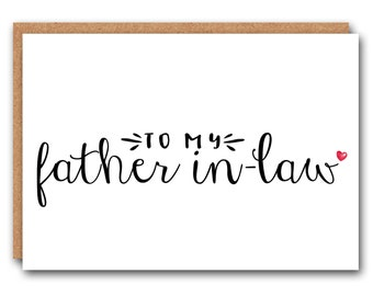 To my father in-law - wedding day cards, wedding stationary, to my father in-law, from the bride, from the groom
