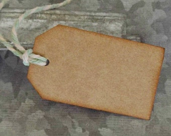 Kraft Tags, 12 Distressed Tags, Rustic Tag, Homemade, Party Favor, Wedding, Shower, Scrapbook Embellishment, Card Making, Price Tags, Craft