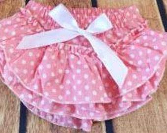 Polka Dot Ruffled Diaper Cover