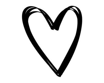 EZ Mounted Rubber Stamp Calligraphy Outline Hearts Altered Art Craft Scrapbooking Cardmaking Collage Supply