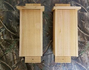 2 Pack - 3 Chamber Bat House Handmade Cedar Bat House – Mosquito Control
