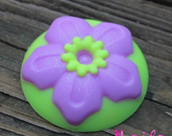 organic flower soap, large soap, handmade soap, shea butter ,wedding soap favor, cocoa butter, glycerin soap, party favors, novelty soap
