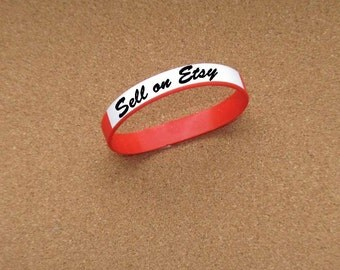 RED Writeon Wristbands Silicone Rubber Lot of Three (3) DIY Custom Wristbands Writable Surface Wristbands