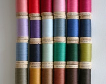 Scanfil Organic Cotton Thread ALL COLOURS 300 Yard/275 Metre Wooden Spools - UK Seller