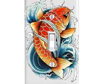 Light Switch Cover - Asian Koi Carp