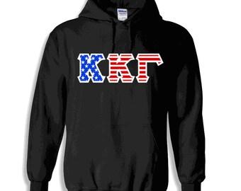 Kappa Kappa Gamma American Flag Twill Hoodie