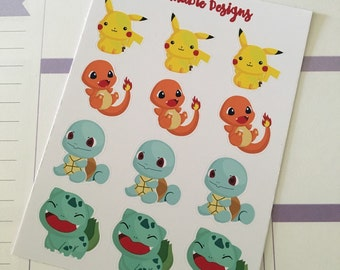 Pokemon planner stickers