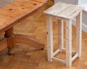 Reclaimed Wood Stool  Rustic Interior furniture  Bar Kitchen and Workshop