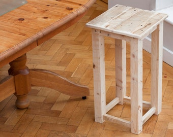 Reclaimed Wood Stool - Rustic Interior furniture / Bar, Kitchen and Workshop