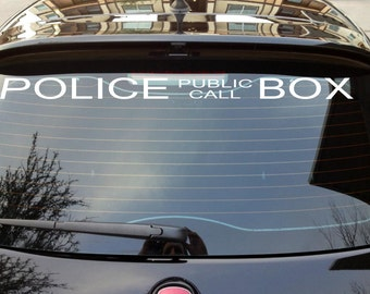 Dr. Who Police Call Box decal
