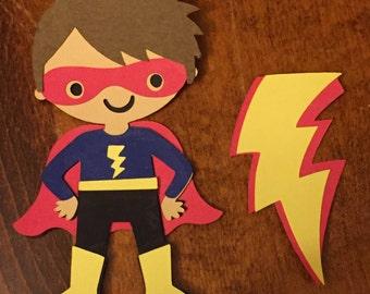 6 Cricut Die Cut Superhero Embellishments