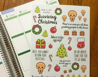 NH02 Surviving  Christmas Stickers
