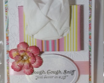 Get Well Card w/ tissue