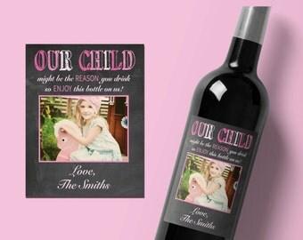 Teacher Wine Label, Personalized Teacher Gift, Custom Wine Label, wine labels for teachers, teacher appreciation gift, teacher valentine