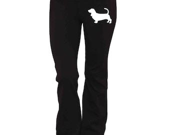 Basset Hound Dog Yoga Pants