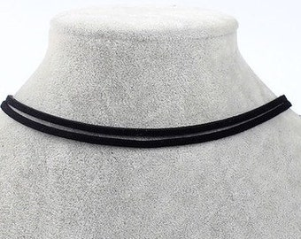Double Strand Suede choker