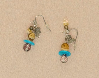 misty with a touch of turquoise earrings