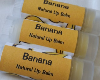 Banana Natural Lip Balm