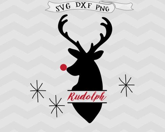 Rudolph Svg Deer Monogram Svg Reindeer Svg Deer Svg Cutting