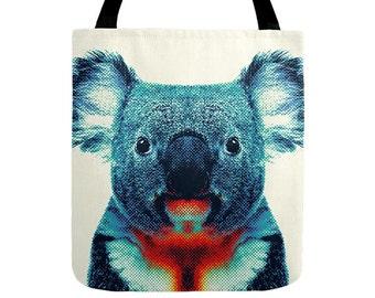 Koala Tote Bag - Colorful Animals