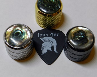 Carved Abalone Inlay Guitar Knobs, Luxury Custom Look (SINGLES)